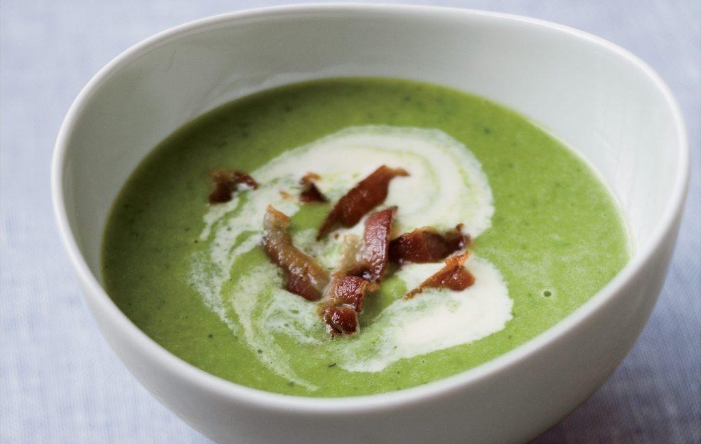 Холодний суп з горошком