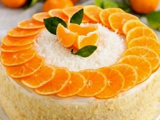 Апельсиновий торт