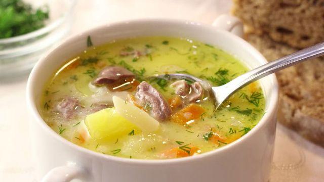 Суп із курячих сердечок