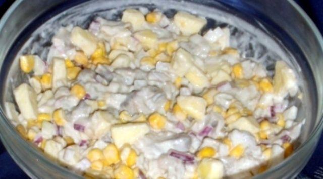 Експрес салат з оселедцем