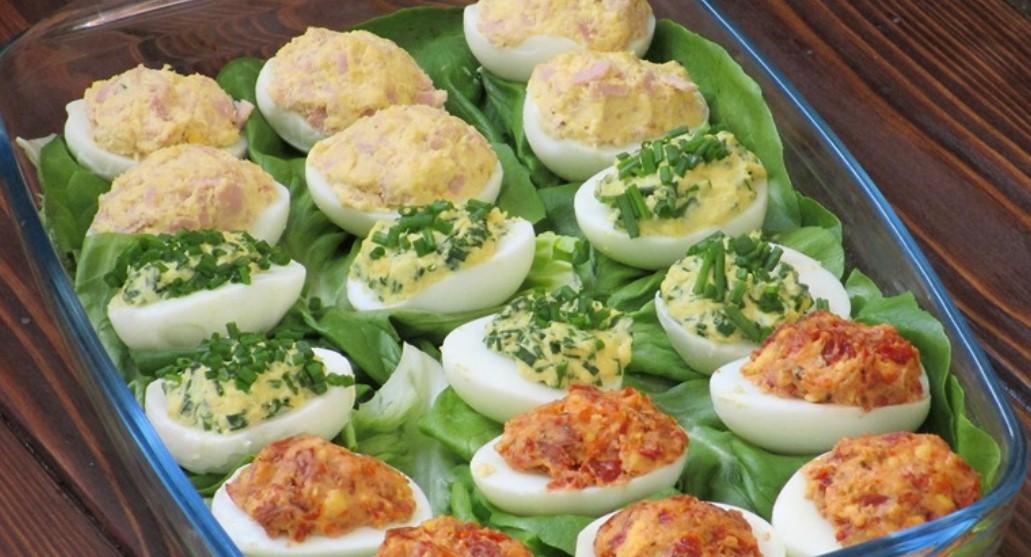 Фаршировані яйця (3 види) за 5 хвилин