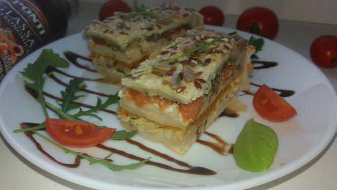 Фірмовий пиріг з куркою та помідорами чері + ФОТО