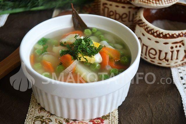 Суп з зеленим горошком для дітей
