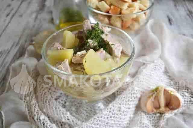 Чеський часниковий суп