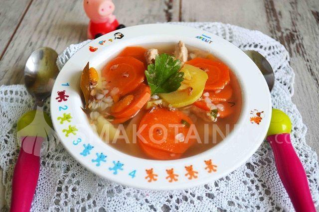 Гречаний суп з індичого м'яса (для дітей)