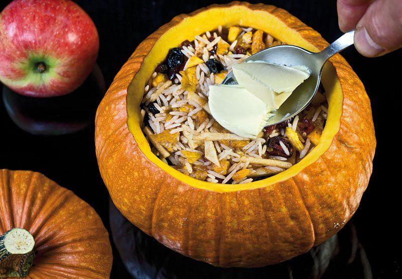Хапама: гарбуз з фруктовим пловом