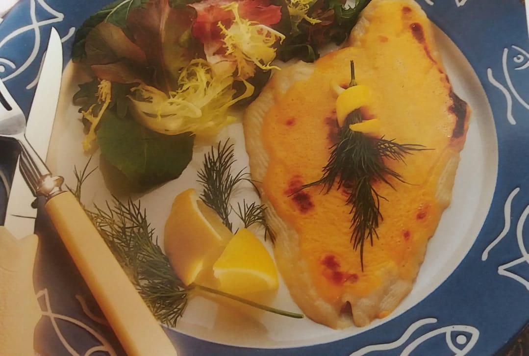 Камбала під гірчичним соусом