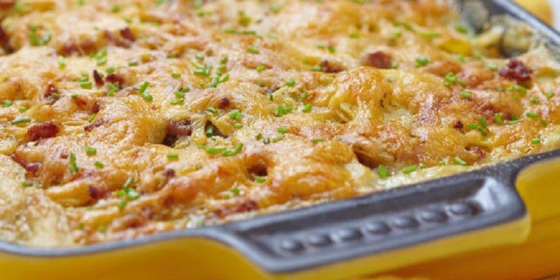 Картопляна запіканка з цукіні і сиром
