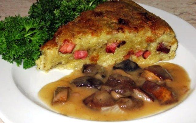 Картопляний пиріг з беконом