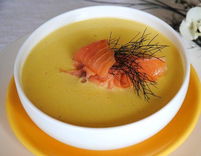 Крем-суп з лососем