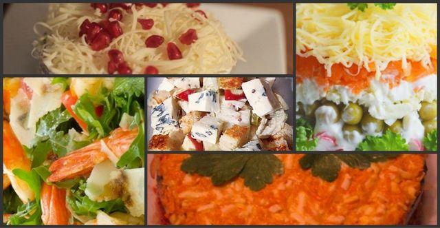 Добірка салатів до святкування Нового 2018 року