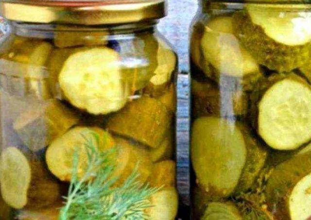 Огірки різані, на зиму (без стерилізації)