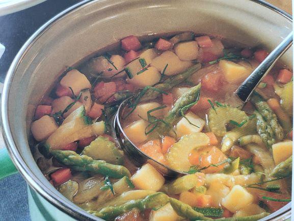 Овочевий суп зі спаржею