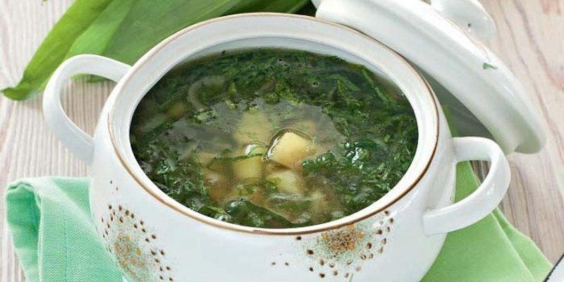 Овочевий суп з черемшею