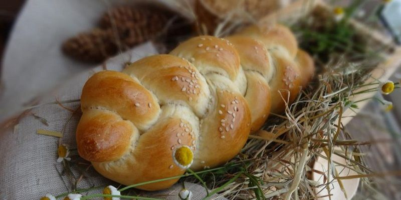 Пісний хліб з кунжутом