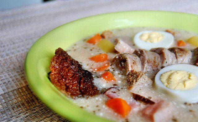 Польський журек з сушеними грибами