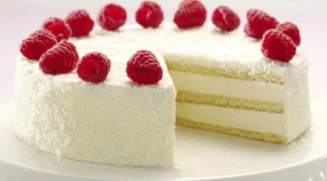 Простий кокосовий торт