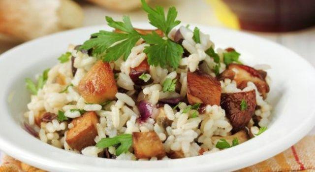 Рис з грибами в мультиварці
