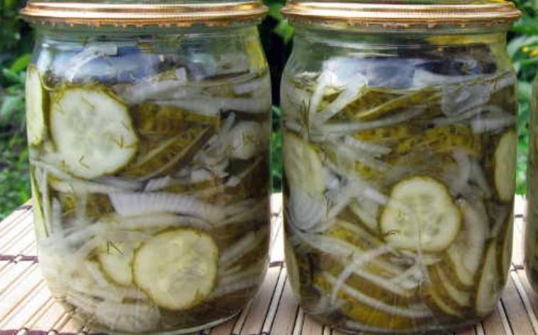 Салат «Ніжинський» з огірків на зиму (без стерилізації)