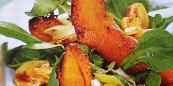 Салат з гарбузом і грибами