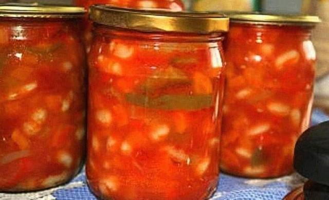 Салат з квасолі та болгарського перцю на зиму