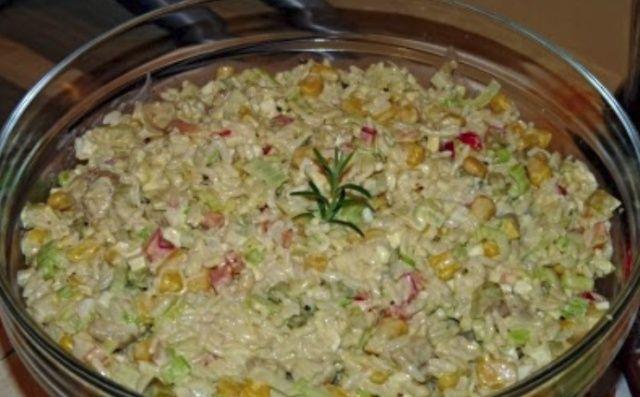 Салат з рисом та куркою
