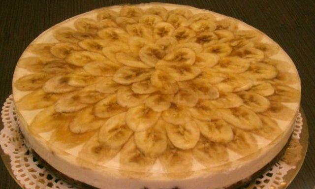 Сирний торт з бананами (без випічки)