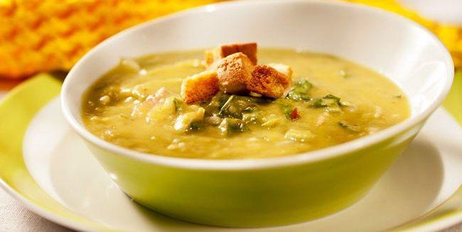 Гороховий крем-суп з тофу