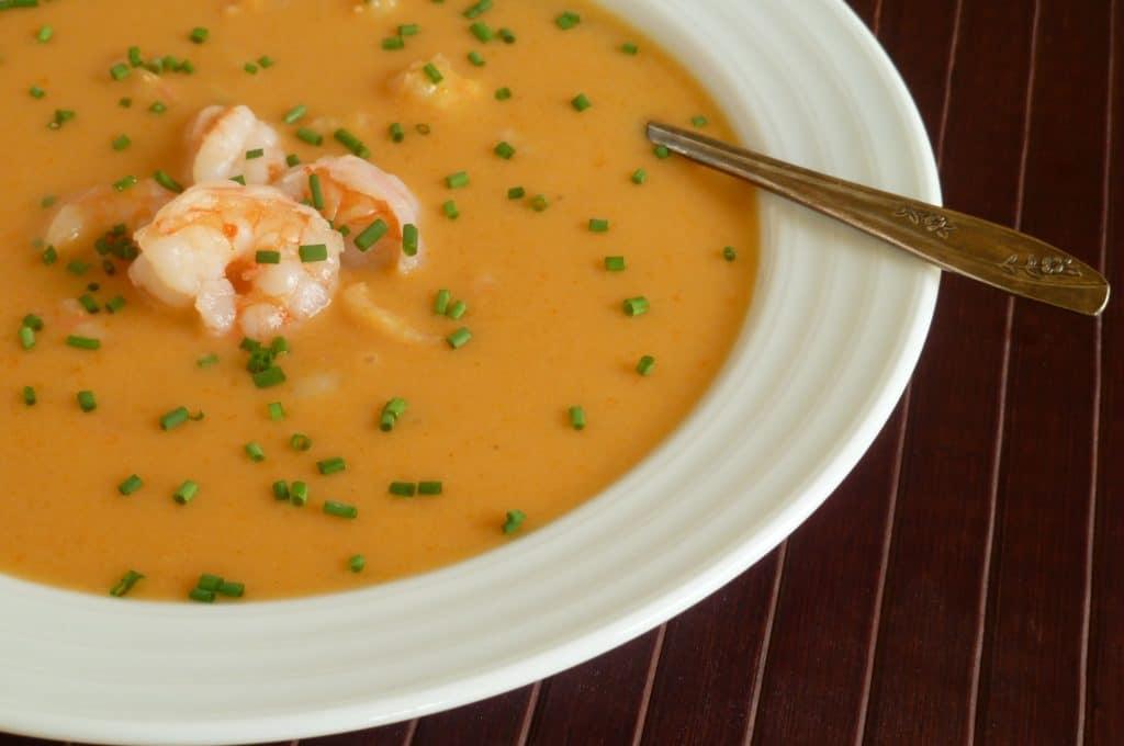 Тайський суп з креветками