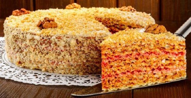 Торт з вафельних коржів