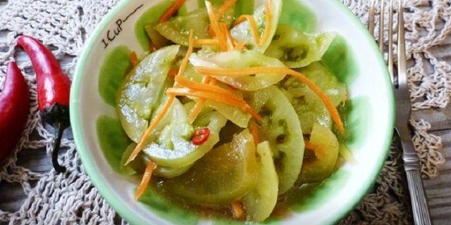 Зелені помідори по-корейськи